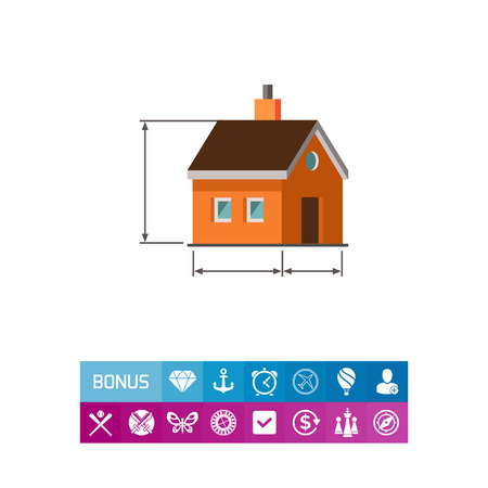 reconstruction: House scheme icon Illustration
