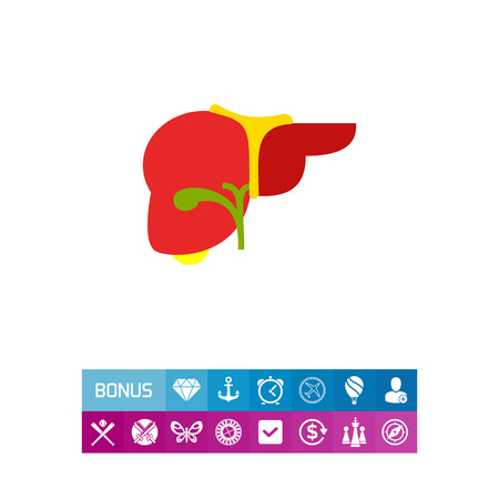 removing: Human Liver Vector Icon