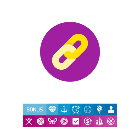 Hyperlink Sign Icon Illustration