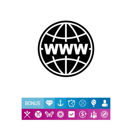Image of Globe as Internet Concept Icon