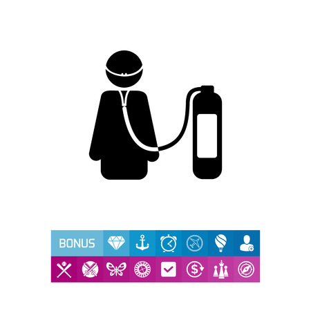 female catheter: Life Support Concept Icon Illustration