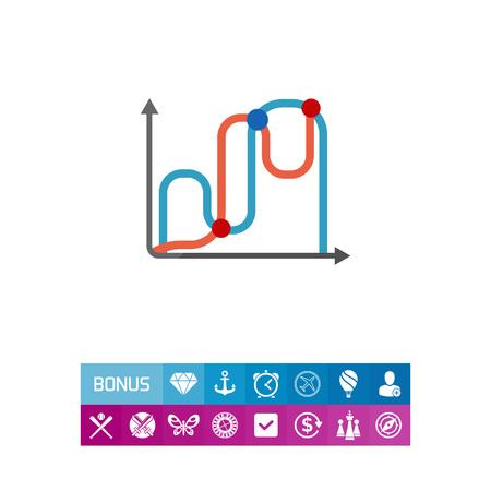 線グラフのアイコン
