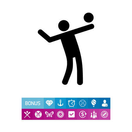 Man Playing Volleyball Icon