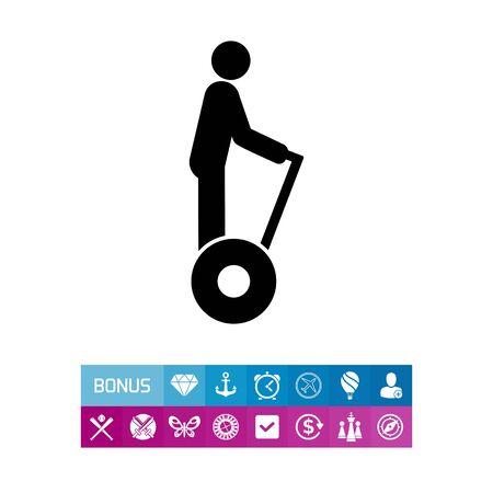 Man Riding Segway Icon