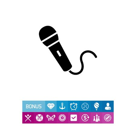 perform: Microphone simple icon