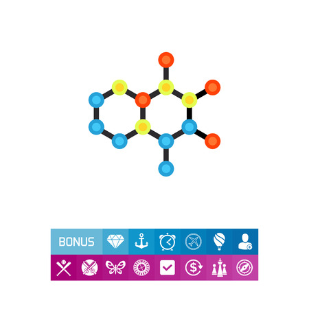structural formula: Molecular Structures Vector Icon Illustration
