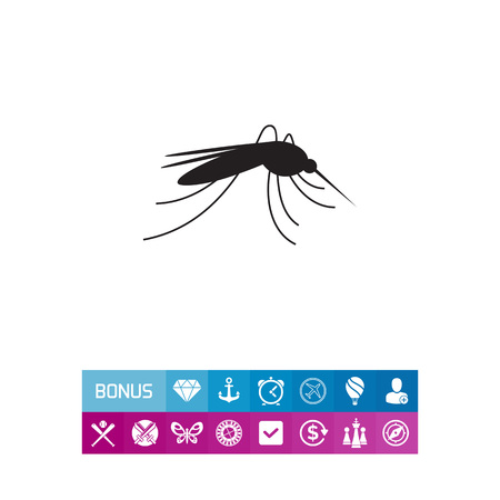 Mosquito icon illustration.