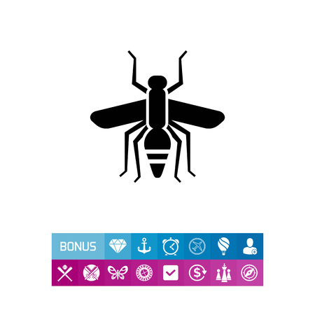 Mosquito silhouette icon illustration.
