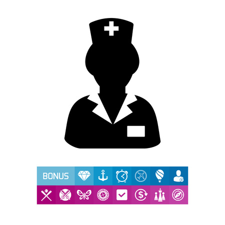nursing clothes: Nurse in Uniform Icon