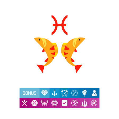 Pisces Sign Icon