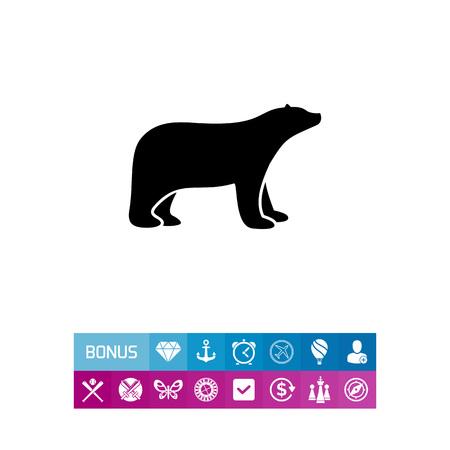 북극곰 간단한 아이콘 일러스트