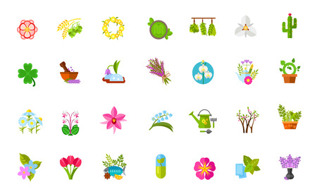 Plants icon set Çizim