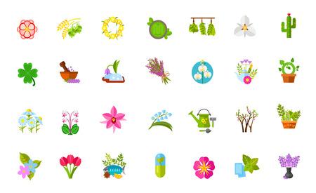 Plants icon set Illustration