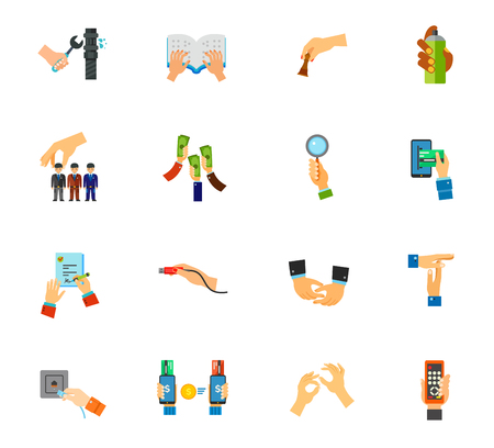 Gesture icon set Illustration