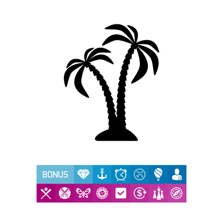 Pair of Coconut Palms Icon