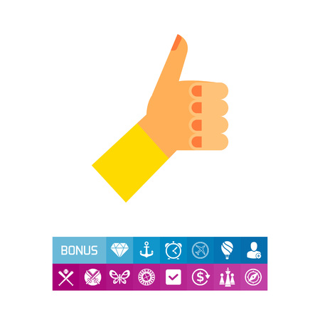 puños cerrados: Left hand with thumb up. Showing, positive, nonverbal. Approval concept. Can be used for topics like gestures, nonverbal communication, management.