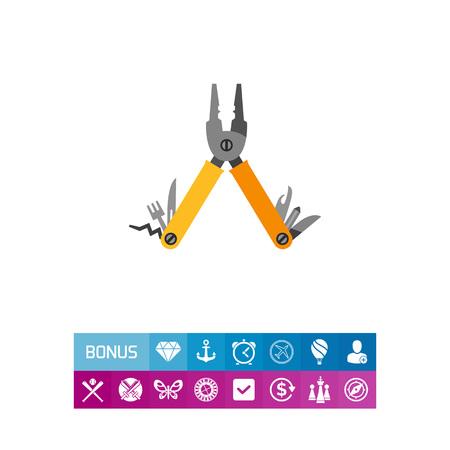Multi Tool Vector Icon Illustration