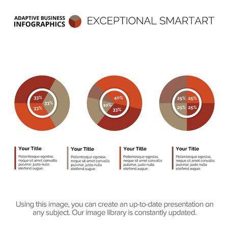 information analysis: Complex Round Diagram Template Illustration