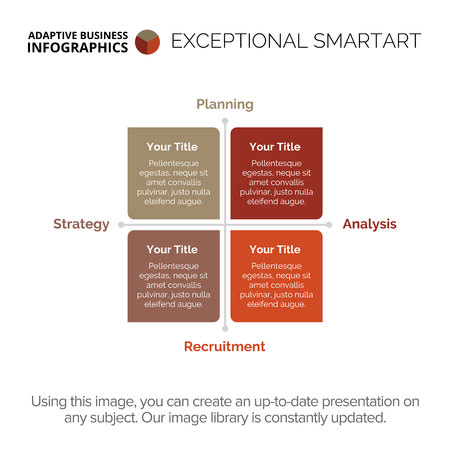 information analysis: Four Side Matrix Diagram Template