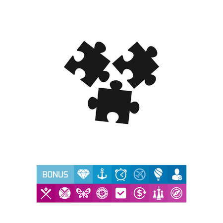 요소 퍼즐 아이콘 일러스트