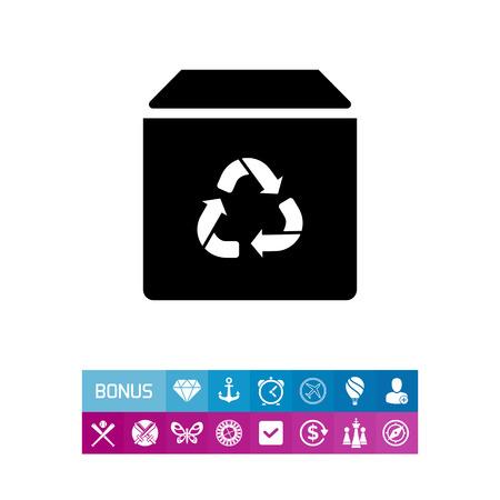 Recycling box icon