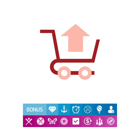 removing: Remove from cart icon Illustration