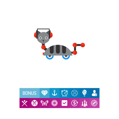 funny robot: Robot Cat on Wheels Icon