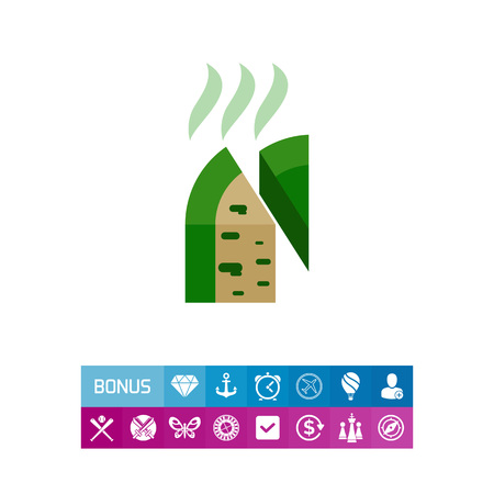 Roquefort Cheese Block and Piece Icon Illustration