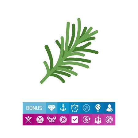 sprig: Rosemary flat icon Illustration