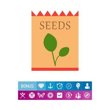 Icono del paquete de semillas