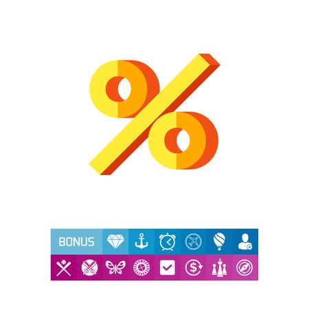 percent sign: Sign percent icon Illustration
