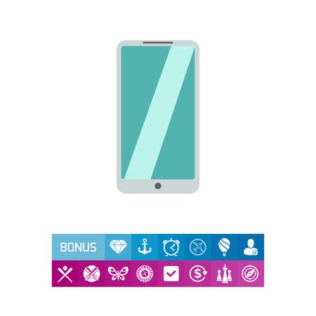 silver background: Silver smartphone