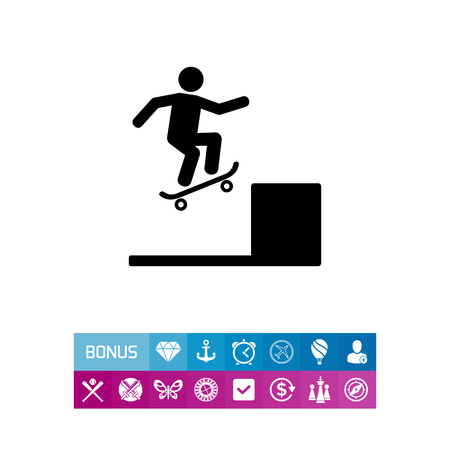 sports application: Skater Performing Trick Icon