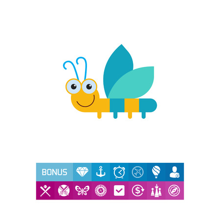 Smiling dragonfly icon