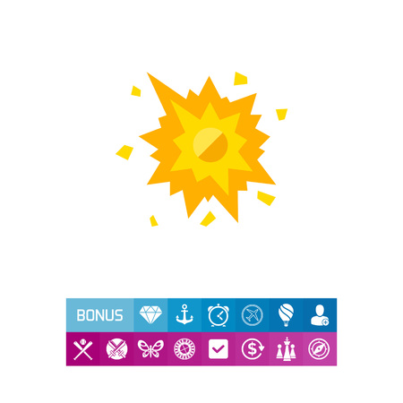 Smashed Spot with Splashes Icon
