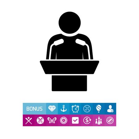 spokesman: Speaker Simple Icon Illustration