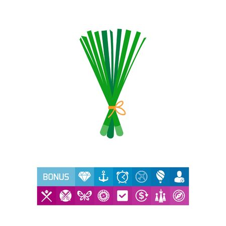 Vector icon of spring onion bunch Illustration