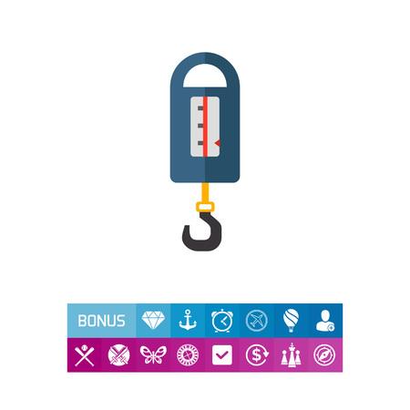 Steelyard balance icon Illustration