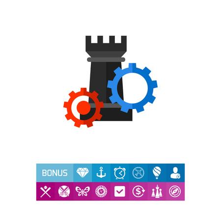Strategic Management Concept Icon