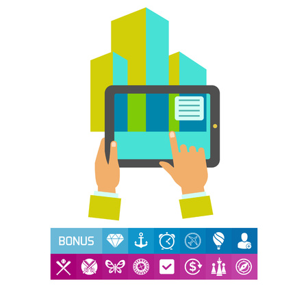 Tablet Showing Augmented Reality Icon