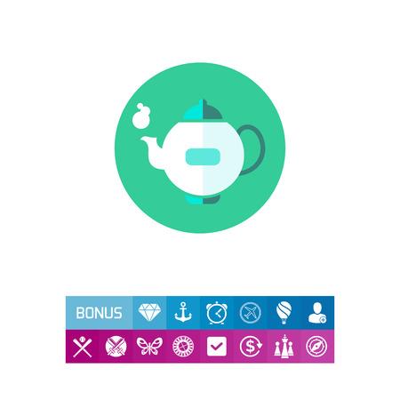 five o'clock: Teapot icon Illustration