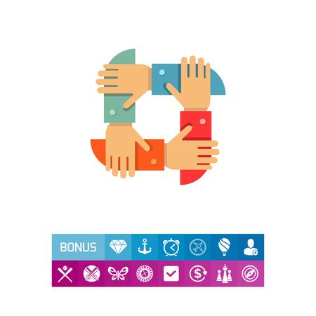 Teamwork icon Illustration