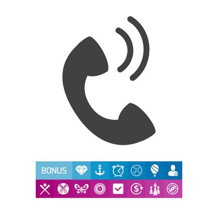 Telephone receiver Illustration