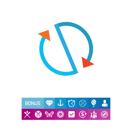 Multicolored vector icon of stylized circulation sign made of arrows