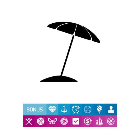 to spend the summer: Sun Umbrella Icon