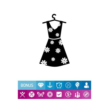 hangers: Summer Woman Dress Icon Illustration