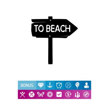 recess: To Beach Sign Icon