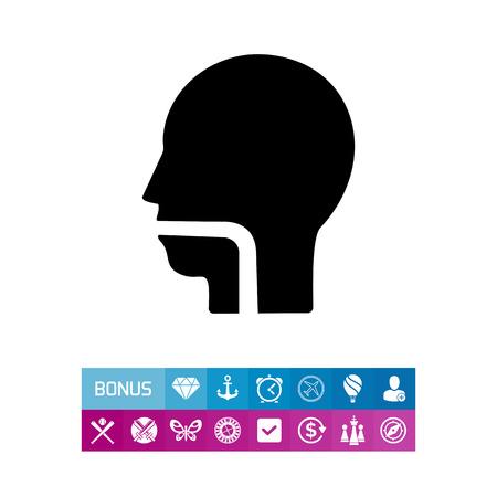 Throat simple icon