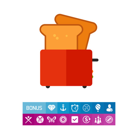 toasted: Toaster with bread slices