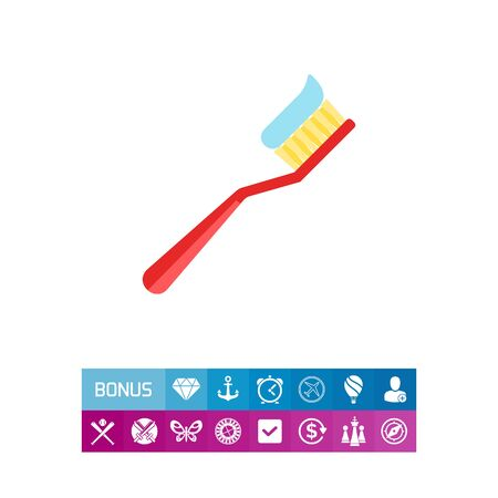 medical drawing: Tooth Brush Vector Icon